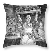 Christmas Dinner Throw Pillow