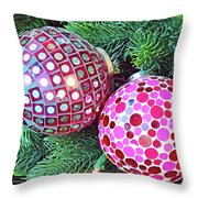 Christmas Dots No. 1-1 Throw Pillow