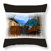 Christmas Down The Alleyway Throw Pillow