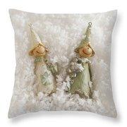 Christmas Elves Throw Pillow