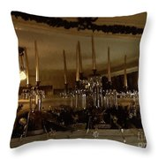 Christmas Eve In Brown And Gold  Throw Pillow