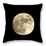 Christmas Eve Moon Throw Pillow