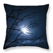 Christmas Eve Night Throw Pillow
