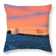 Christmas Eve Panrama Throw Pillow