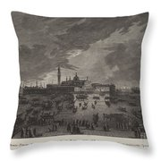 Christmas Eve Procession To San Giorgio Maggiore Throw Pillow