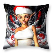 Christmas Fairy Throw Pillow