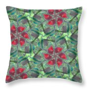 Christmas Flowers Throw Pillow