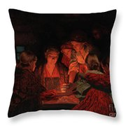 Christmas Fortune-telling. Throw Pillow