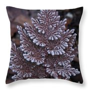 Christmas Frosty Pattern Throw Pillow