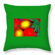 Christmas Fruit Throw Pillow