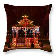 Christmas Gazebo Throw Pillow