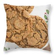 Christmas Gingerbread Cookies Throw Pillow