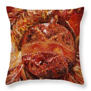 Christmas Glitter Throw Pillow