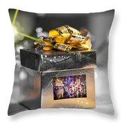 Christmas Golden Gift  Throw Pillow