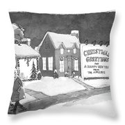 Christmas Greetings From The Applebys Throw Pillow