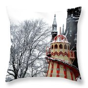 Christmas Helter Skelter Scotland Throw Pillow