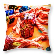 Christmas Holiday Background Throw Pillow