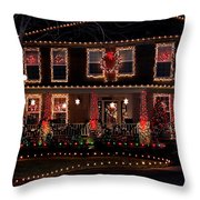 Christmas House-2 Throw Pillow