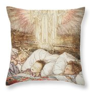Christmas Illustrations From The Night Before Christmas Throw Pillow