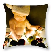 Christmas In A Baby's Eyes Throw Pillow
