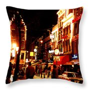Christmas In Amsterdam Throw Pillow