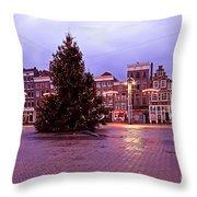 Christmas In Amsterdam The Netherlands Throw Pillow