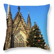 Christmas In Cologne Throw Pillow