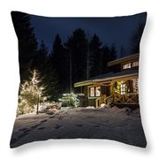 Christmas In Finland Throw Pillow