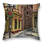 Christmas In Jim Thorpe Throw Pillow