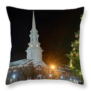 Christmas In Market Square Throw Pillow