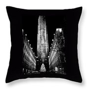 Christmas In New York City Throw Pillow