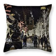 Christmas In Nyc Throw Pillow