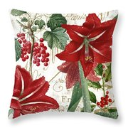 Christmas In Paris II Throw Pillow