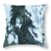 Christmas In Tesuque Throw Pillow