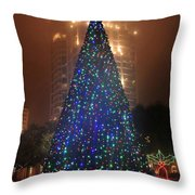Christmas In The City Throw Pillow