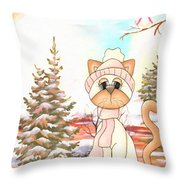 Christmas In The Forest Throw Pillow