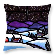 Christmas In The Shenandoah Valey Throw Pillow