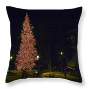 Christmas In Vail Throw Pillow