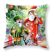 Christmas In York Throw Pillow