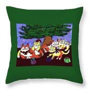 Christmas Kitties  Throw Pillow