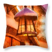 Christmas Lamp Throw Pillow