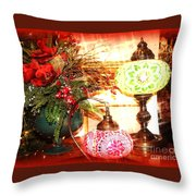 Christmas Lamps Throw Pillow