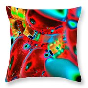 Christmas Lights Festival Throw Pillow