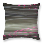 Christmas Lights 6th Ave 13 Abstract Throw Pillow