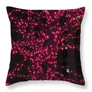 Christmas Lights 6th Ave 4 Abstract Throw Pillow