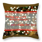 Christmas Lights Abstract Throw Pillow