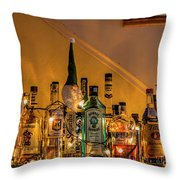 Christmas Lights And Bottles 4197t Throw Pillow