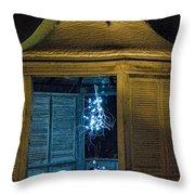 Christmas Lights In Gazebo Throw Pillow
