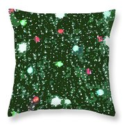 Christmas Lights No. 7-1 Throw Pillow