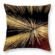 Christmas Lights Zoom Blur II Throw Pillow